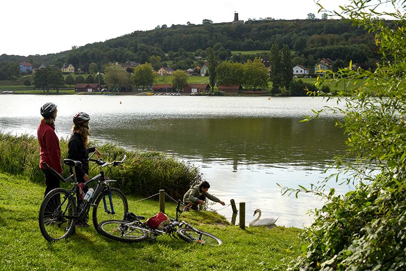 """Der See """"Étang des Forges"""""""