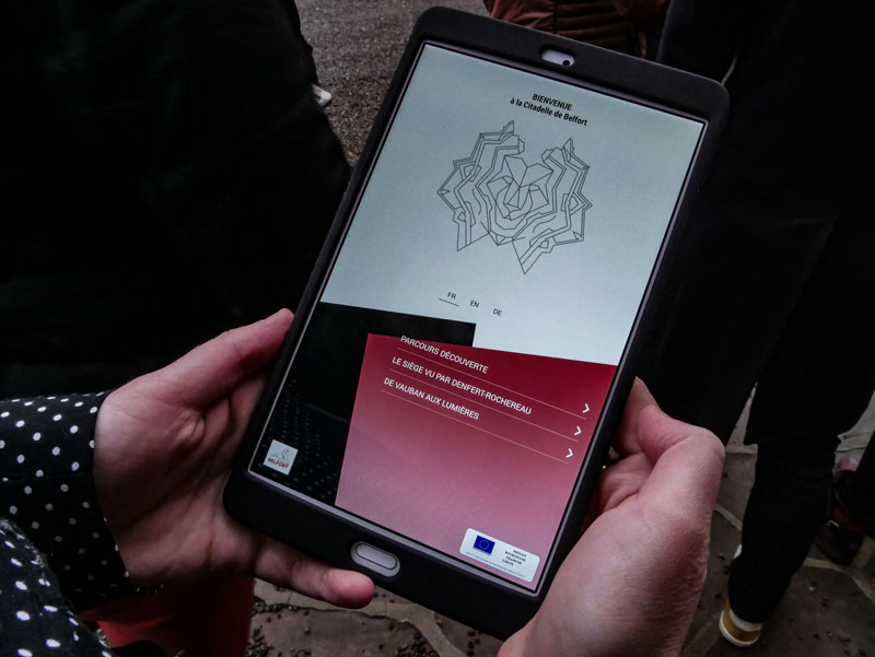visit in augmented reality citadel Belfort