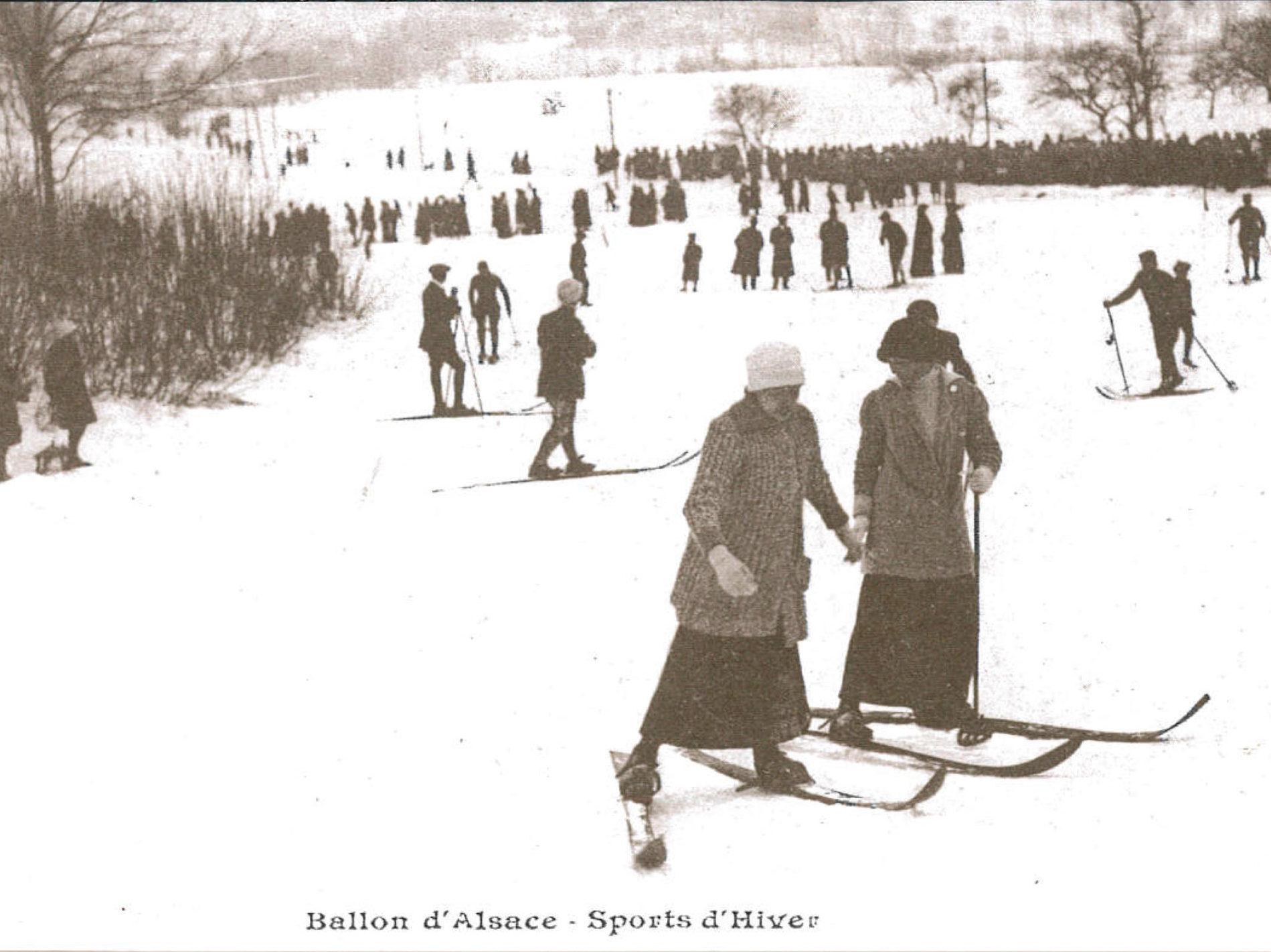 Ski au Ballon ancien