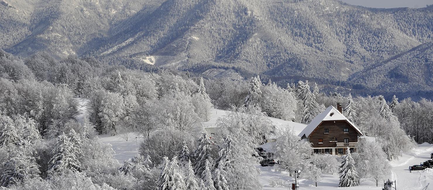 Ballon d'Alsace sous la neige