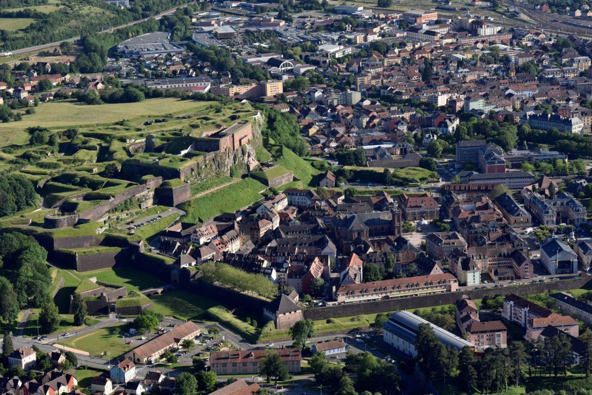 Citadelle Belfort - vue du ciel