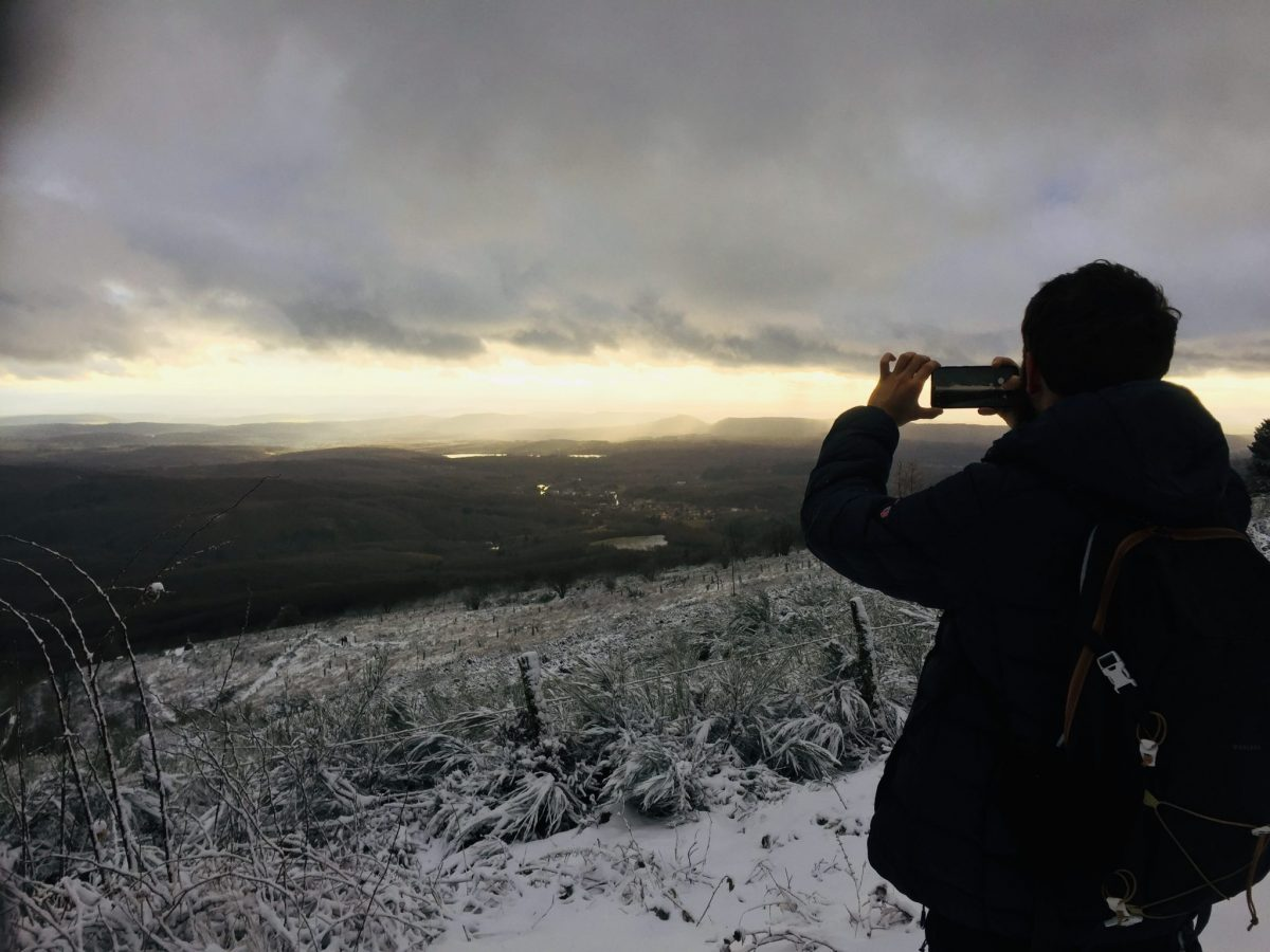 panorama neige vosges du sud