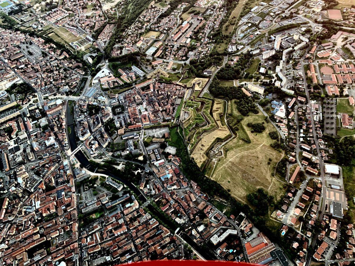 vue depuis une montgolfiere Belfort